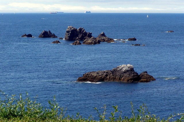 Man of War and Shag Rock, off Lizard Point