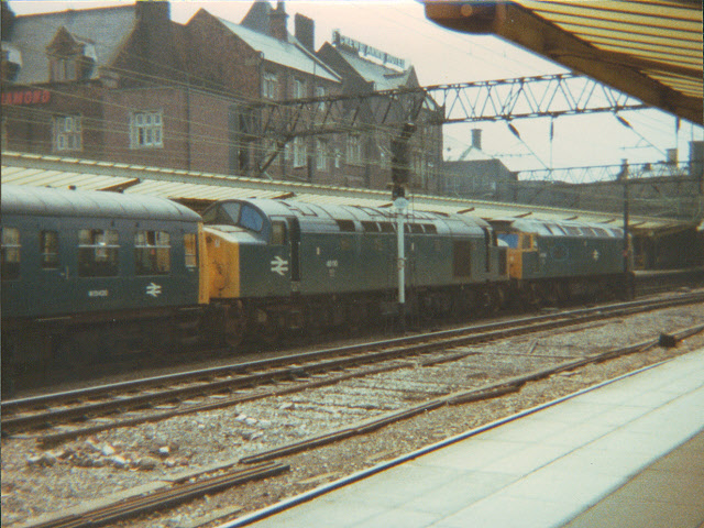Diesel parade through Crewe