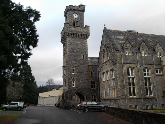 Clock tower  at Fort Augustus Abbey