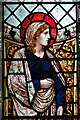 TM0081 : St John's church - south aisle east window (detail) : Week 7
