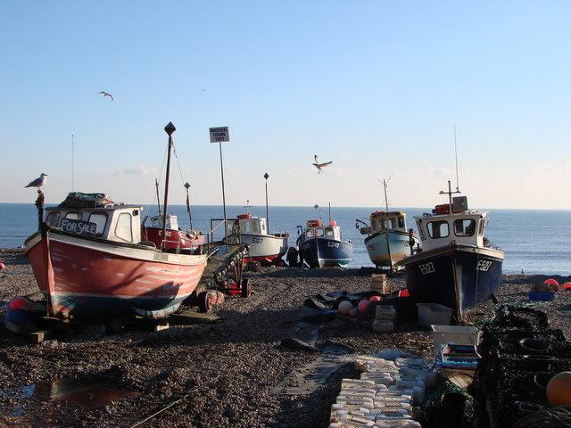 Surviving fishing community in Beer