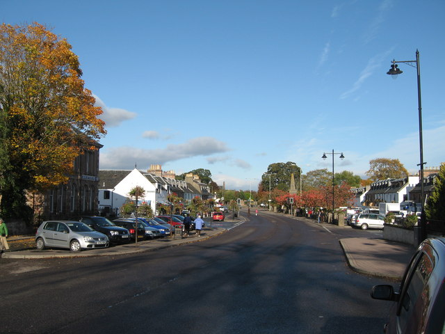 The Square, Beauly, in autumn