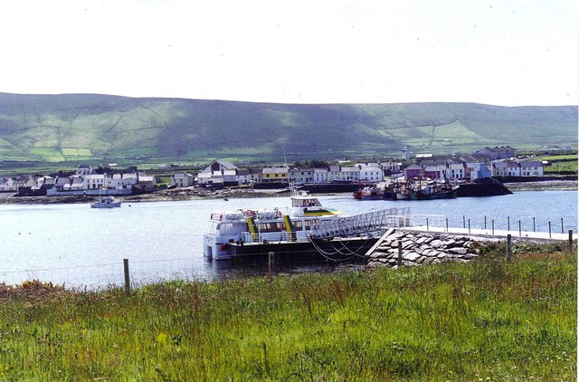 Portmagee on the Kerry Ring viewed from Valencia Island