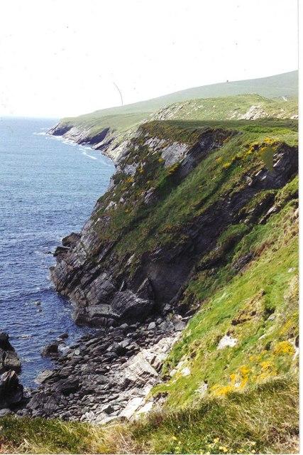 Cliffs south of Valencia Island, looking west towards Bray Head