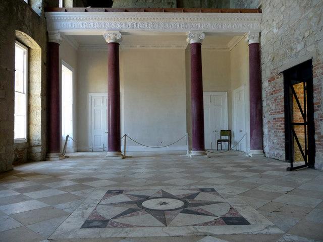 interior of appuldurcombe house  isle of     u00a9 christine