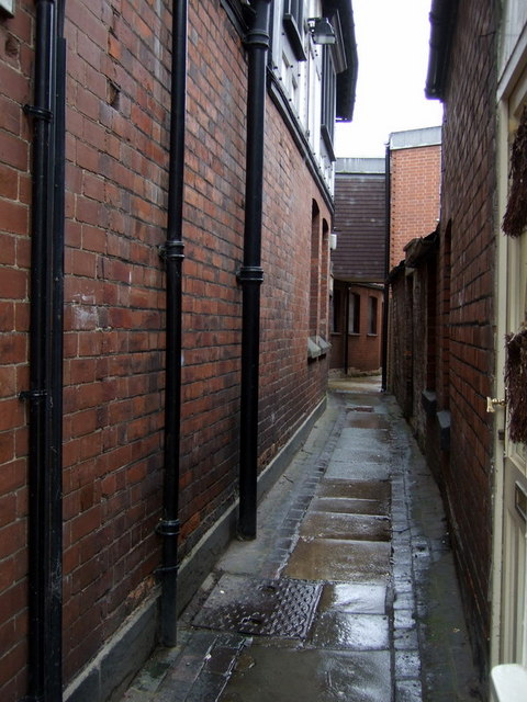 The shuts and passages of Shrewsbury: Bowdler's Passage