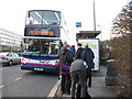SU3814 : Bus stop on Romsey Road by Stephen Craven