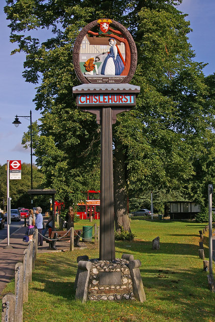 Chislehurst village sign