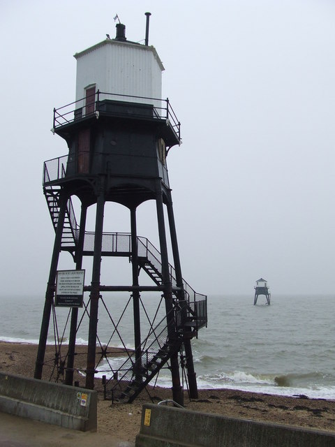 The Dovercourt High And Low Lighthouses