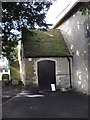 SU9006 : The church porch at St Andrew, Tangmere by Basher Eyre