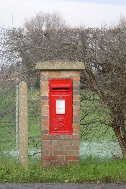Post Box EIIR Brick Pillar