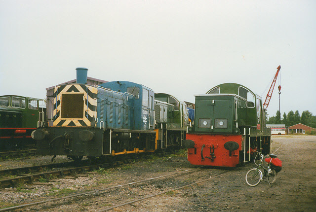 Shunters at Toddington depot