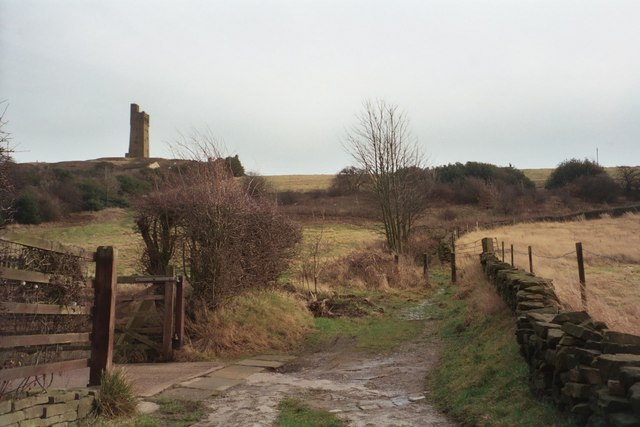 Mucky Lane - the footpath from Hall Bower to Castle Hill