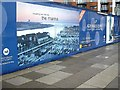 SU4210 : Construction hoarding on Admiral's Quay by Stanley Howe