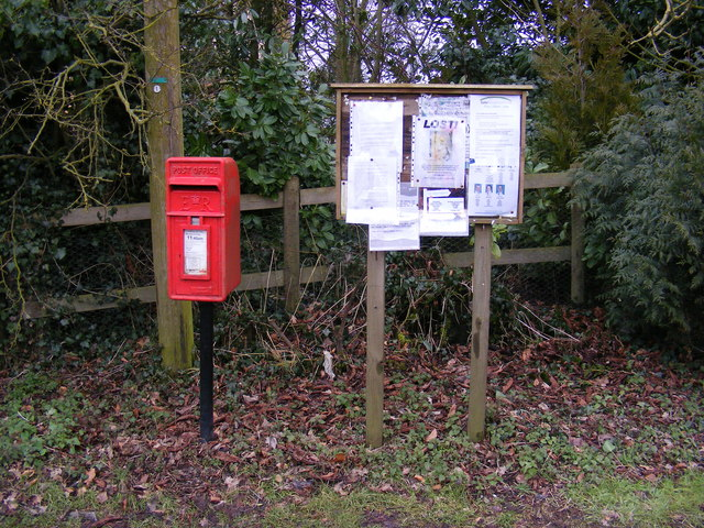 Winston Green Postbox & Winston Green Village Notice Board