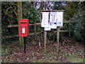 TM1761 : Winston Green Postbox &amp; Winston Green Village Notice Board by Adrian Cable