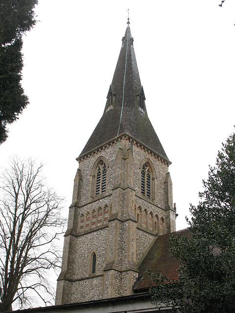 Spire of St Mary's church, Caterham