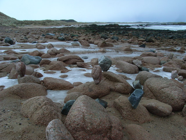 Balanced Beach Boulders