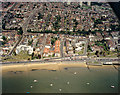 TQ8685 : Aerial view of Southend seafront: Westcliff and Palmeira Arches by Edward Clack