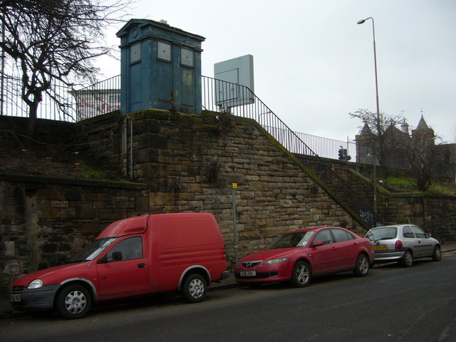 Police Box and Steps from Lower London Road