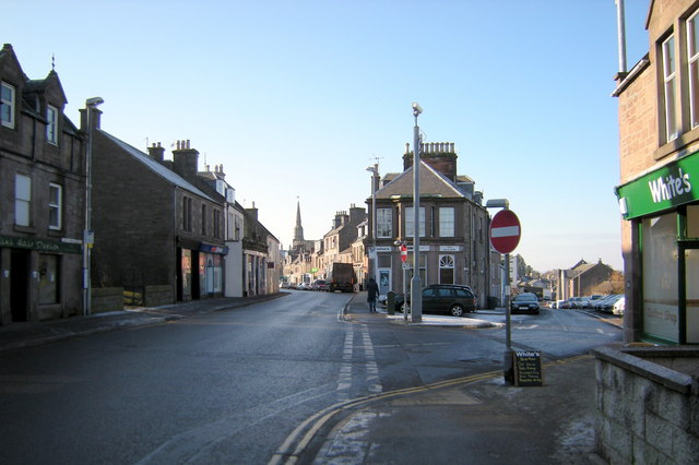 East High Street, Forfar at its junction with Queen Street