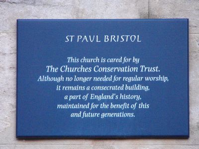 St Paul Bristol (The Churches Conservation Trust)