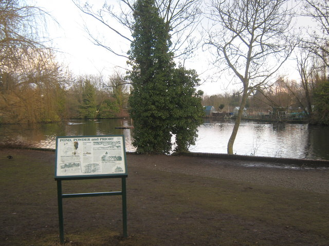 Information Board beside Stonebridge Pond