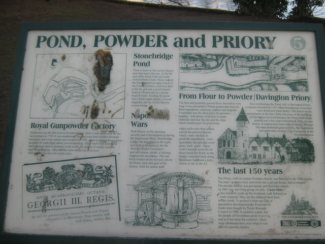 Pond, Powder and Priory Information Panel