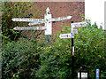 SP0579 : Mileposts at King's Norton Junction, Birmingham by Roger  Kidd