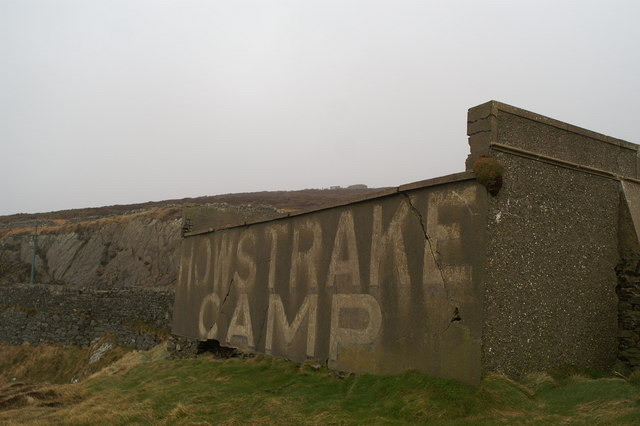 Rear of the tram shelter at Howstrake