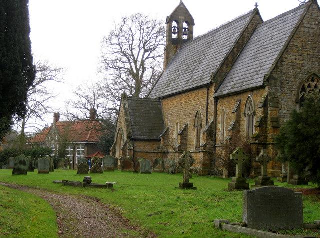 St Luke's church with school beyond