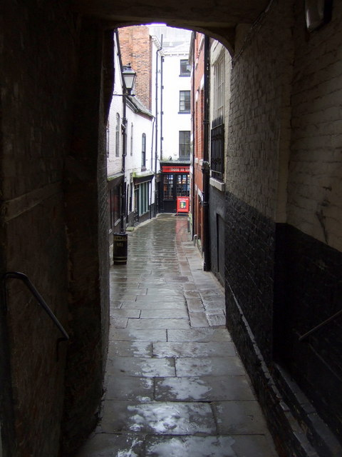 The shuts and passages of Shrewsbury: Gullet Passage