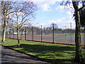 TQ4484 : Tennis Court, Barking Park by Adrian Cable