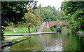 SP0585 : New winding hole and The Vale Bridge, Edgbaston, Birmingham by Roger  Kidd