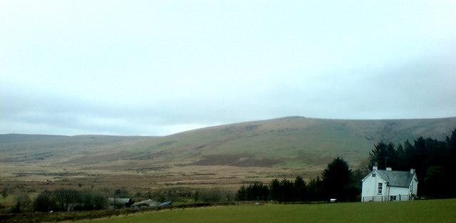 A hillside house
