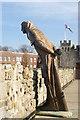 SU4111 : John Le Fleming Statue, City Walls, Southampton : Week 9