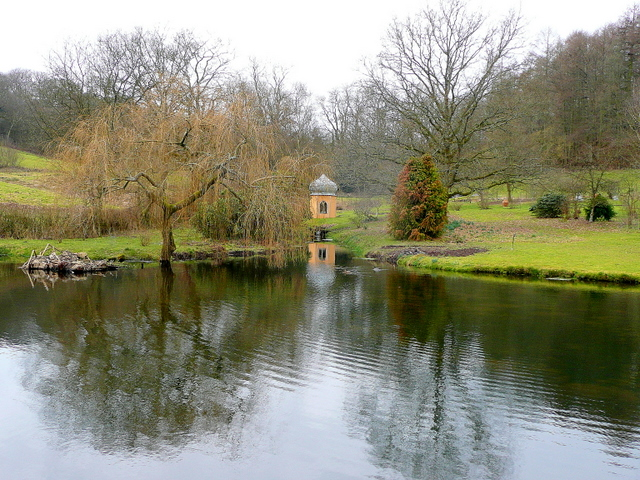 Ornamental pond at penmill farm jonathan billinger cc by for Ornamental pond