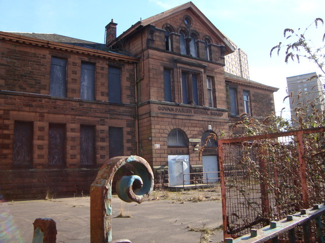 Derelict school buildings, Broomloan Road, Govan