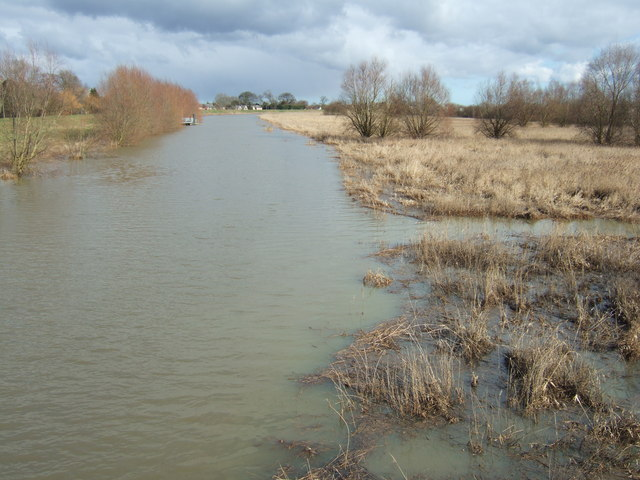 The River Nene from Guyhirn Bridge