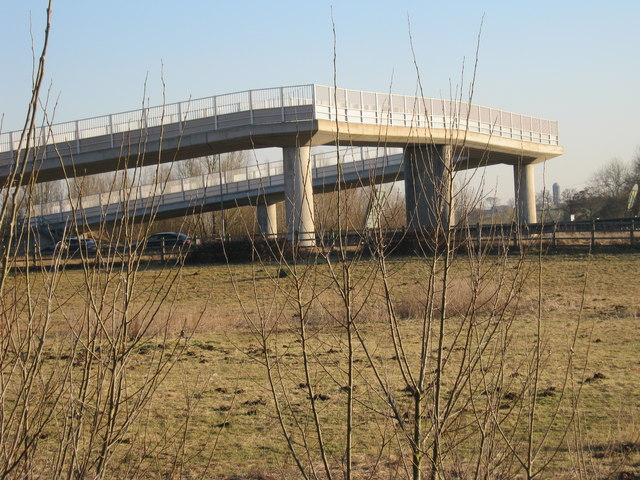 Footbridge over the A55 Expressway