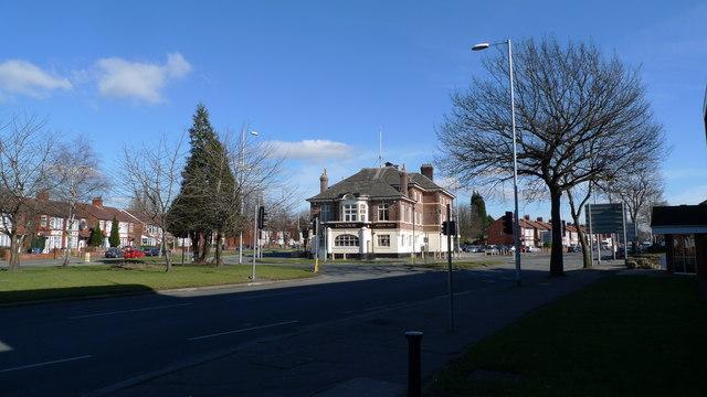 Road junction near the Kingsway Hotel