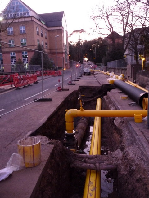 Bournemouth: St. Stephen's Road dug up