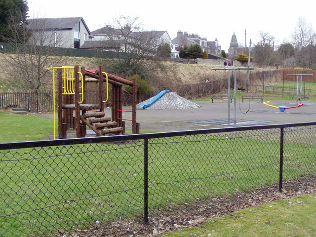 Garthdee children's play park from West