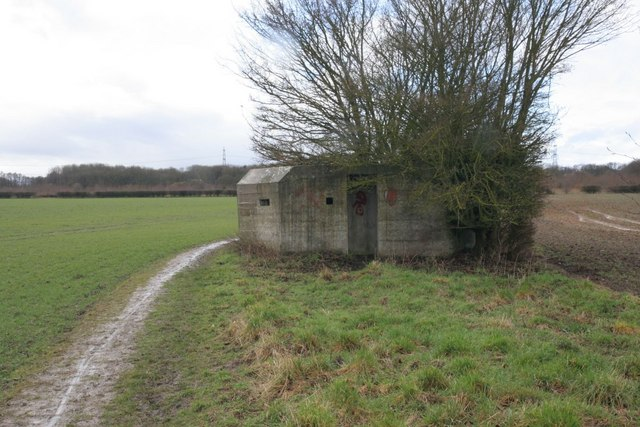 Pillbox by the footpath
