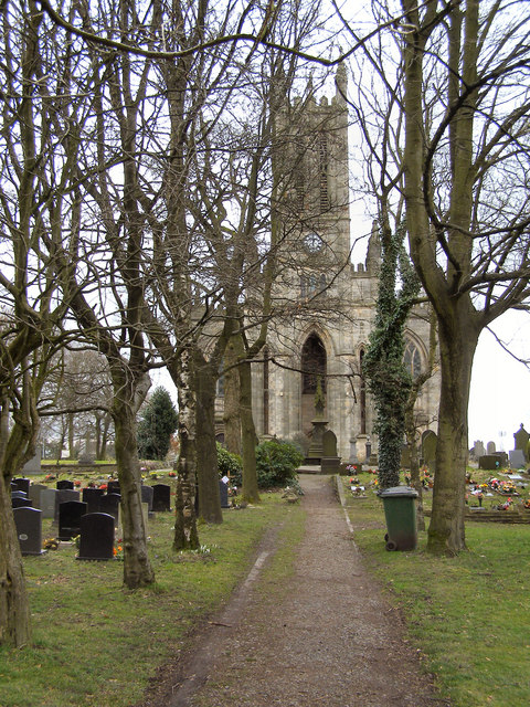 All Saints church and graveyard