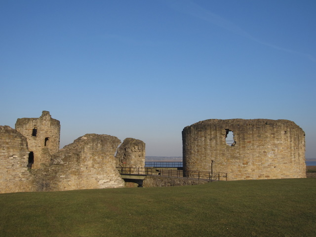 The entrance bridge to Flint castle