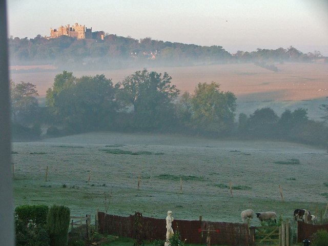 Early Morning View of Belvoir Castle taken From Woolsthorpe By Belvoir