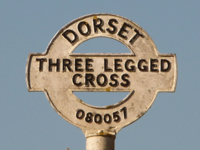 Three Legged Cross: signpost detail