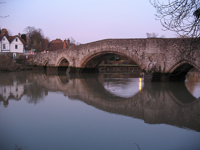 The old bridge in Aylesford