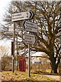 SU0912 : Cripplestyle: road signs at village centre by Chris Downer